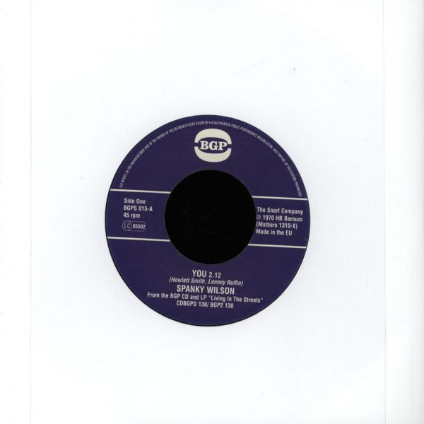 "Spanky Wilson - You/ Sunshine Of Your Love [7""]"