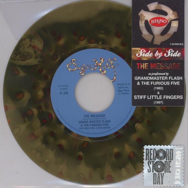 "Grandmaster Flash/ Stiff Little Fingers - Side By Side: The Message [7""]"
