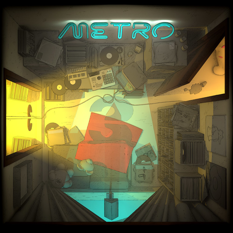 Metro - A3 - LTD Black [2LP]