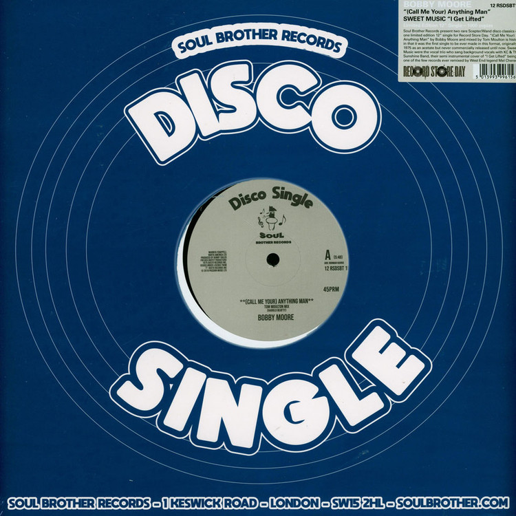 "Bobby Moore - (Call Me Your) Anything Man / I Get Lifted (RSD) [12""]"