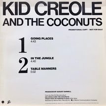 "Kid Creole And The Coconut - Going Places (Promo) [12""]"